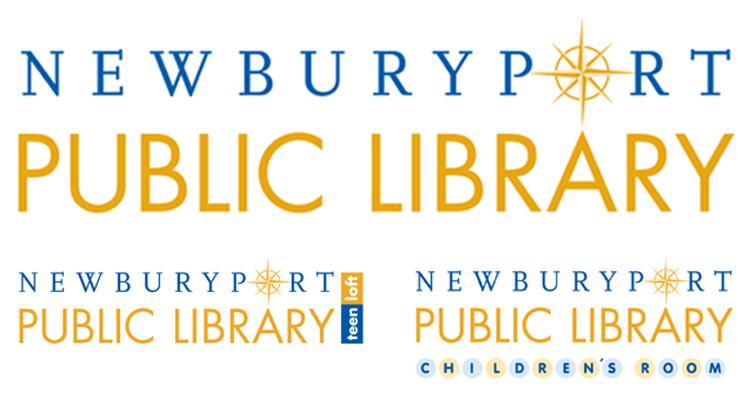 Newburyport Public Library stationery program Logo Program