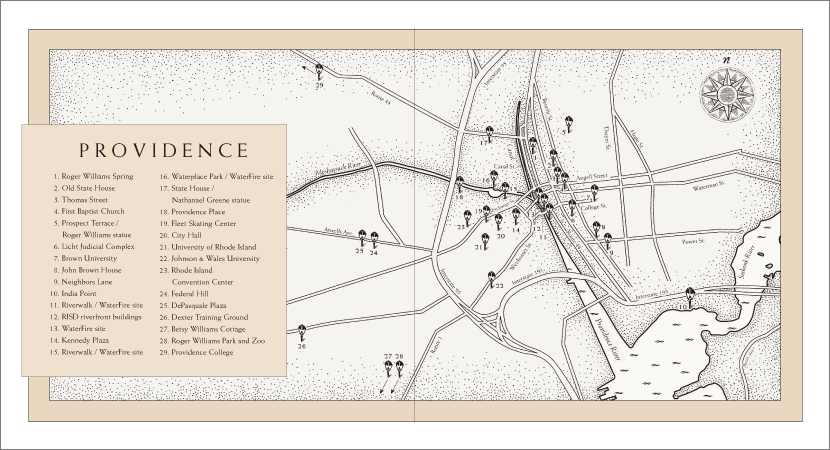 Providence RI gift book endpapers