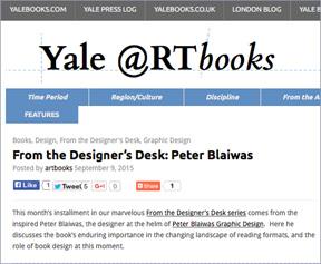 Yale Univ. Press blog page